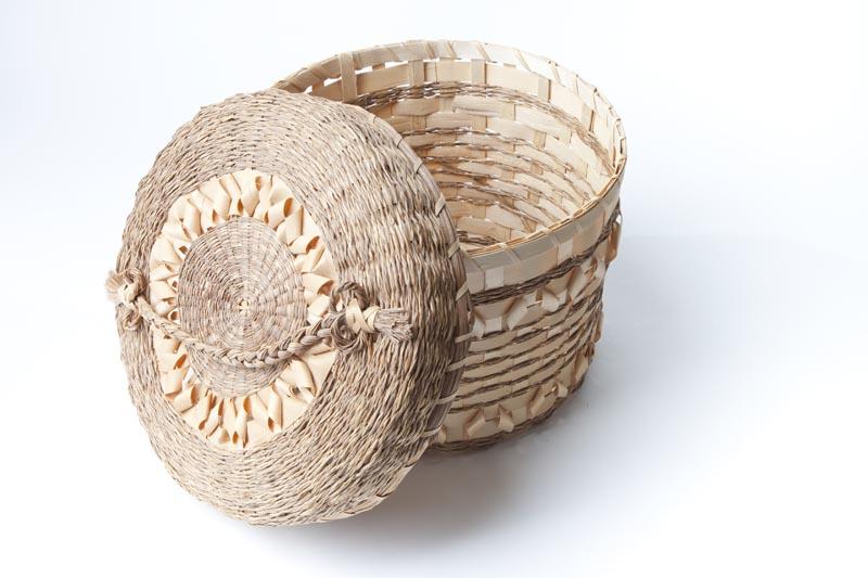 Sweetgrass basket, Frank & Phoebe Roads