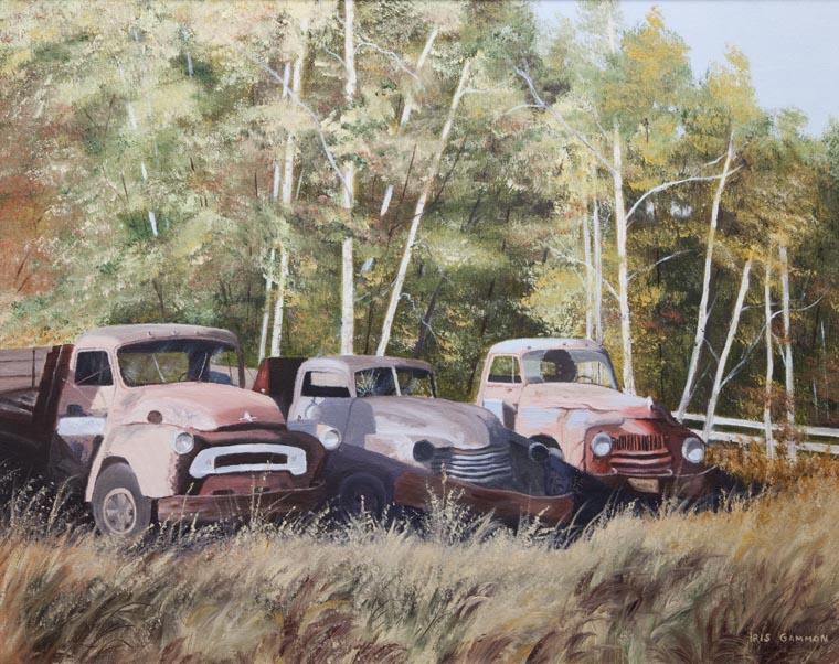 The Good Old Boys, Iris Gammon, oil painting