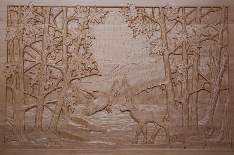 Deer & Heron, Jim Drury