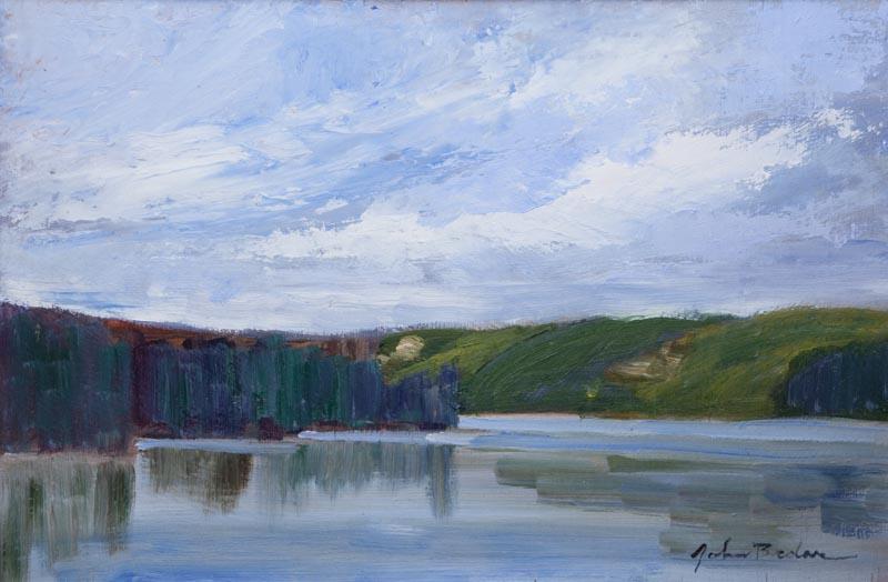 Smoke Lake, Algonquin Park, John Brdar painting